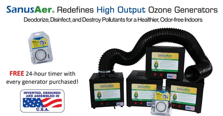 SanusAer redefines High Output Ozone Generators, Deodorize, Disinfect, and Destroy pollutants for a healthier, odor-free indoors.